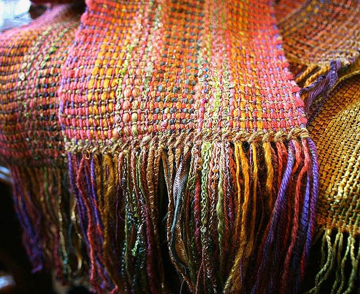 Weaving with knitting yarn ~ Fiber Art Almanac