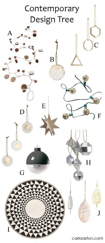 10 must-have decorations for your contemporary Christmas Tree!