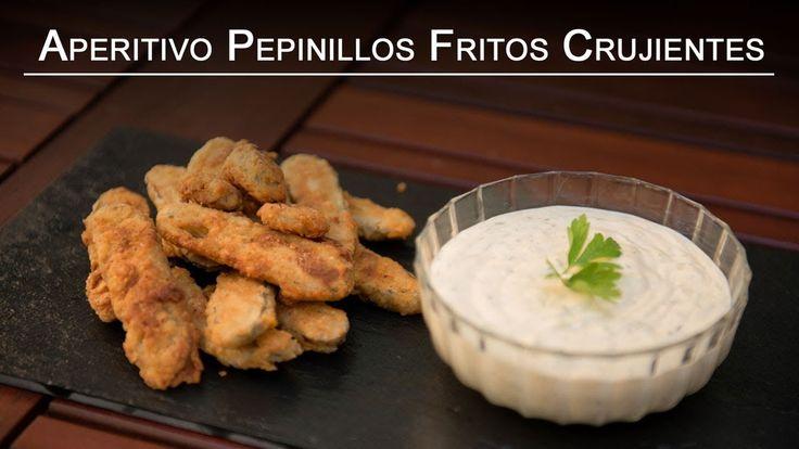 Receta Aperitivo Pepinillos Fritos Crujientes o Fried Dill Pickles