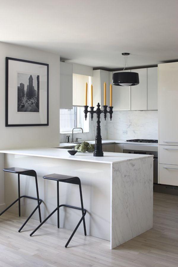 U-vormige moderne keuken