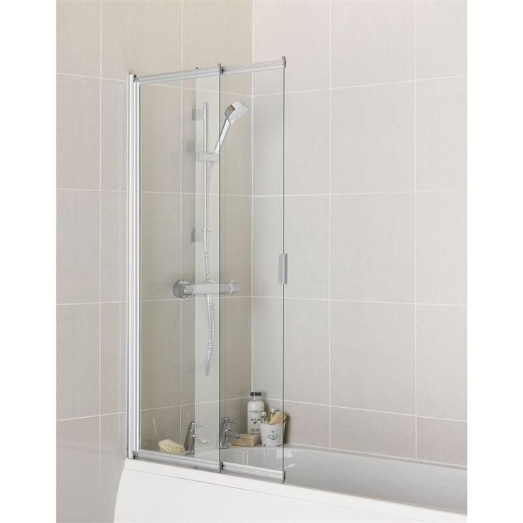 Find Aqualux 2 Panel Sliding Shower Screen - 4mm Glass at Homebase.
