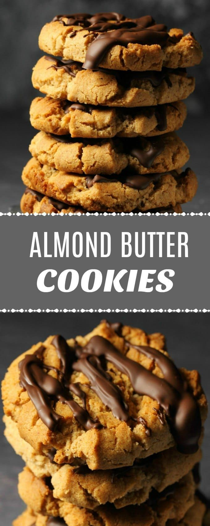 Crunchy Vegan Almond Butter Cookies Drizzled With Vegan Chocolate Perfect Blend Of Flavors In This Almond Butter Recipes Almond Butter Cookies Almond Recipes