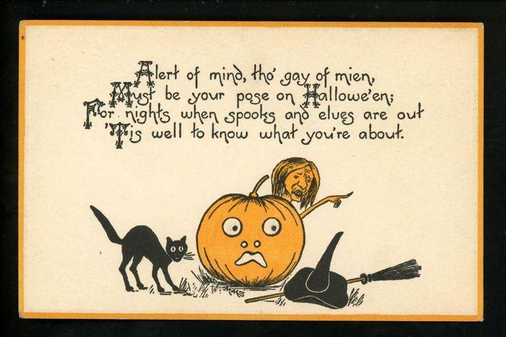 Открытка на хэллоуин на английском языке, пожарной