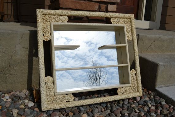 Windsor Mode Mirror Shadow Box Hanging Shelf With Mirror