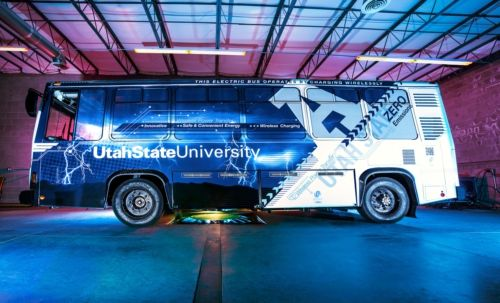 UNIVERSITY USES TESLA TECHNOLOGY TO WIRELESSLY CHARGE ELECTRIC BUS. Utah State University recently presented a first-of-its-kind electric bus charged through wireless technology. Wireless power transfer technology delivers a multitude of benefits that include greater reliability due to no moving parts or cords, added convenience through elimination of plug-in charging, assurance of safety by removing the risk of electrocution and aesthetically pleasing devices owing to no visible wiring.