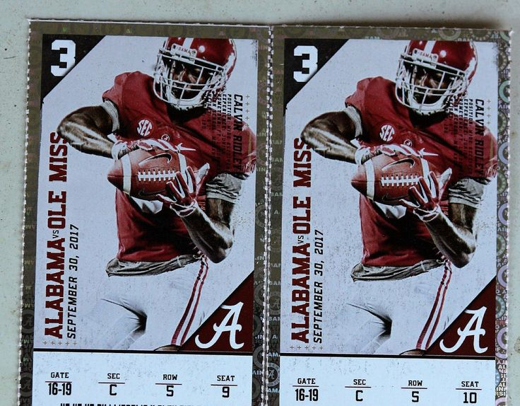 #tickets Alabama vs Ole Miss Football Tickets please retweet