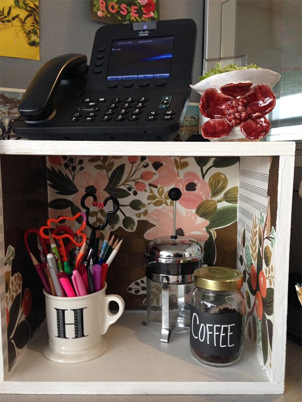 DIY Cubicle Decor: Dress Up Your Desk | Made   Remade