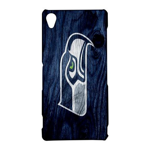Seattle Seahawks on Wood Sony Xperia Z3 Hardshell Case Cover