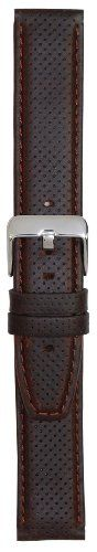 Hadley-Roma Men's MSM846RB-220 22-mm Brown Genuine Oil-Tan Leather WatchStrap | Pebble Watch Bands