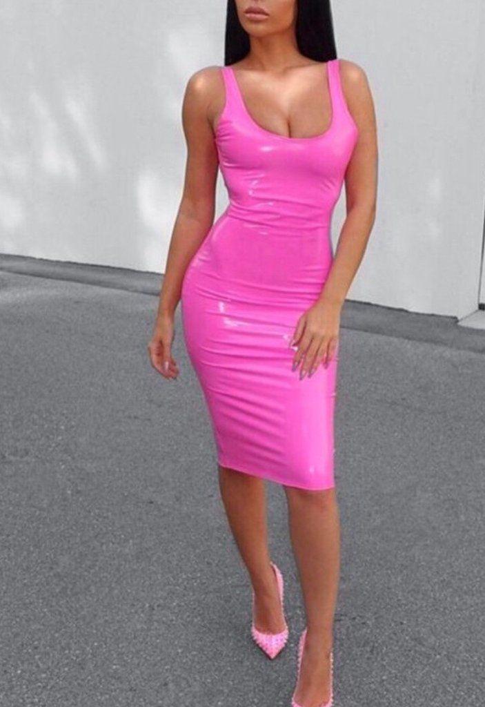 8d6c9ff056 Margaux Pink PU Dress – BWCLOSET