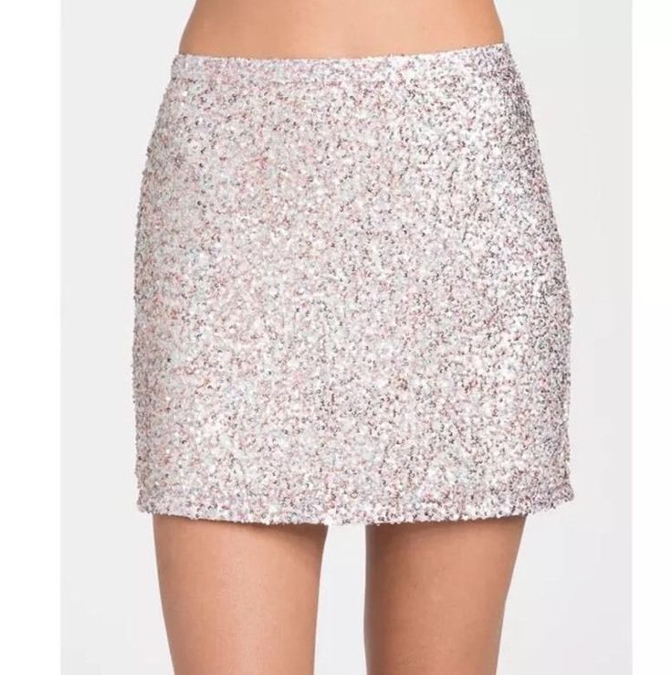 NWT Billabong Showing Off Sequin Mini Skirt Size Small Rose Gold Holidays  | eBay