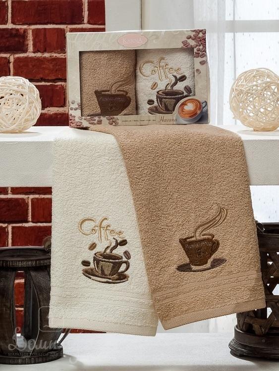 Набор полотенец с вышивкой KARNA HAVANA V2 30х50 (2шт) от Karna (Турция) - купить по низкой цене в интернет магазине Домильфо