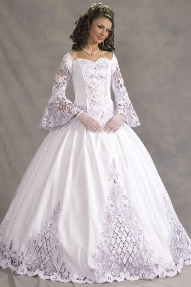 celtic wedding dresses plus size