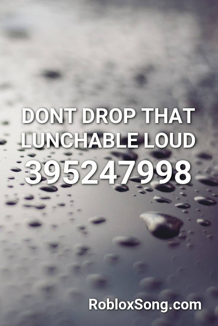 Dont Drop That Lunchable Loud Roblox Id Roblox Music Codes In