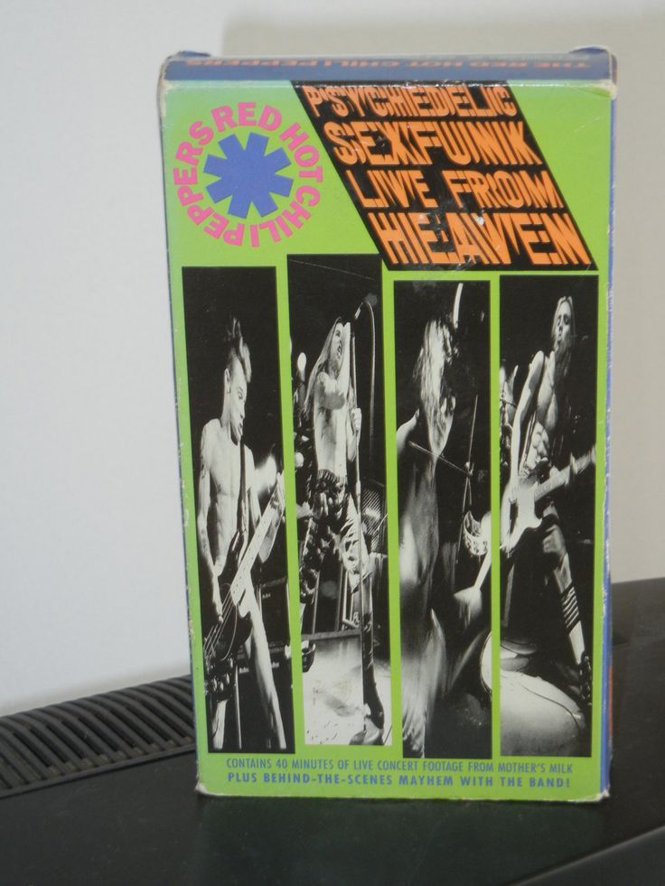 Red Hot Chili Peppers Sexfunk Live From Heaven VHS Video Cassette from 1990 MTV Funk Knock Me Down Magic Johnson Subway to Venus by GailsPopCycle on Etsy