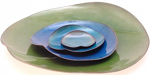 Lily Pad 4 Piece Plate Set, Kiln design studio