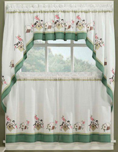 Bird Song Kitchen Curtain 24 Tier Pr By Lorraine Home Fashions 1548