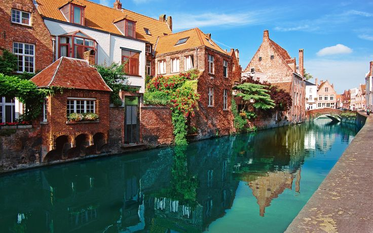 The canals of Bruges, Belgium