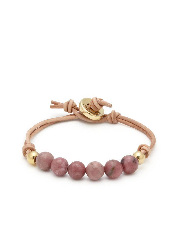 Bead & Leather Friendship Bracelet by Ettika Jewelry at Gilt