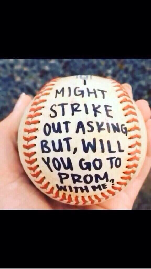 Baseball way to ask someone to prom!