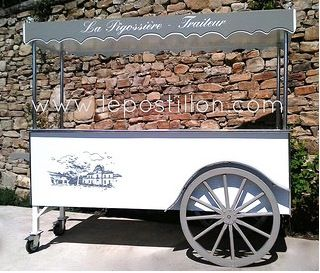 """carrettino dei gelati"" ""chariot à glaces"" Eisstände  Eisvitrine  ""ice cream cart""  ""ice cream trolley"""