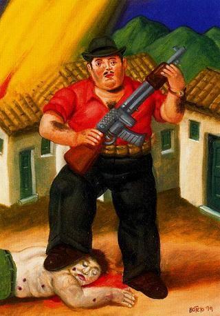 """Охотник"" Фернандо Ботеро (исп. Fernando Botero, р. 1932) – современный колумбийский художник. Биография, картины: http://contemporary-artists.ru/Fernando_Botero.html"