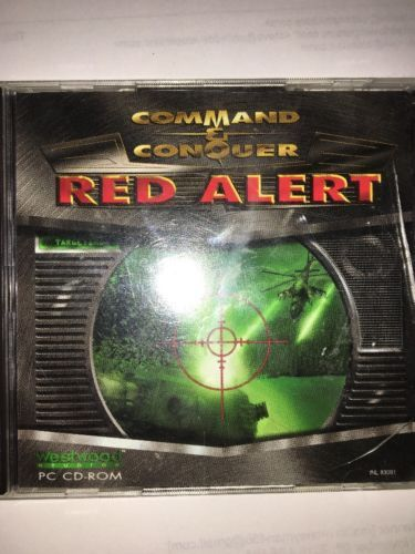 Command and Conquer Red Alert PC CD-ROM Video Game Vintage / Collectible