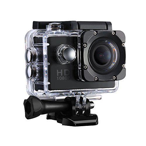 VicTsing Caméra de Sport et Action Haute Définition Full HD 1080p 12MP 30M Étanche Caméscope d'action 170 degrée Multifonction Caméra…