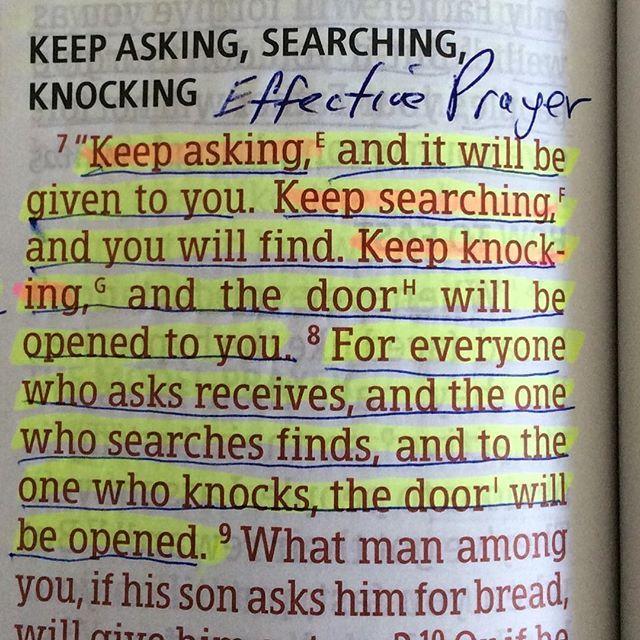 Keep Asking.....