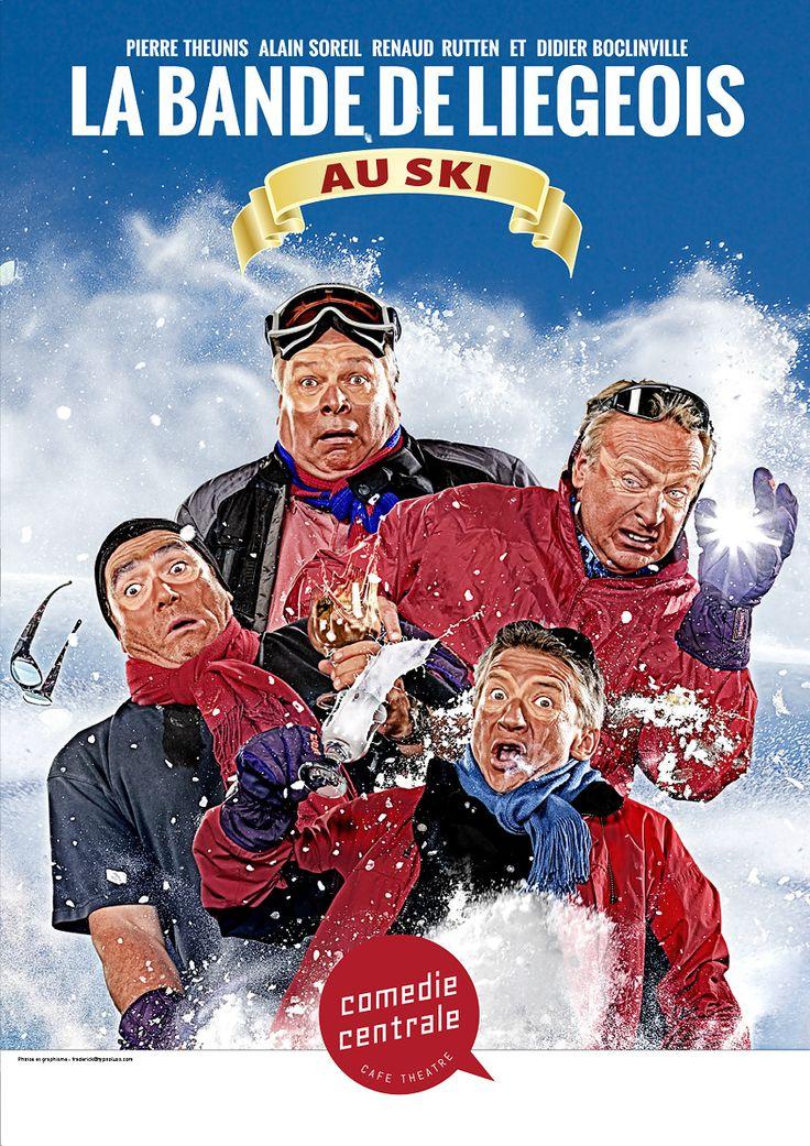 La Bande de Liégeois au Ski Renaud Rutten, Albert Cougnet, Didier Boclinville et Pierre Theunis
