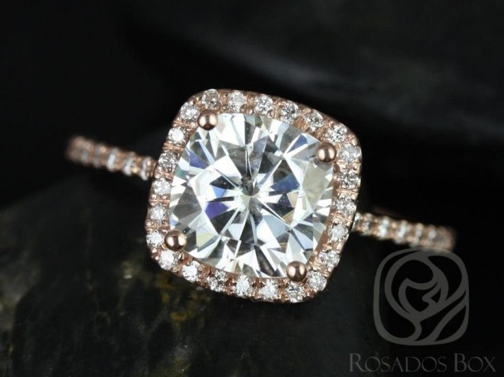 Best 25 Rose Gold Square Engagement Ring Ideas On Pinterest