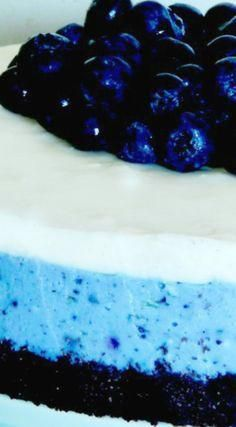 White Chocolate Blueberry Cheesecake ~ Es ist leicht und erfrischend #cheesecakerec …
