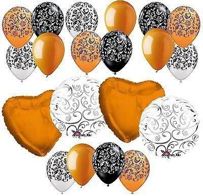 **~~MANY COLORS~~** Elegant Swirls & Colorful Wedding Hearts Balloon Bouquet