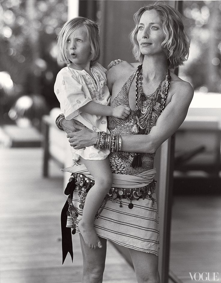 Ida takes in the scene from the hip of her mom, Lucie.: La Falai, Patties Hansen, Gypset Style, Black White, Anything Goes, Boho Style, Lucy De, Bruce Weber, Keith Richard