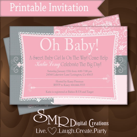 shower invitation pink and grey baby shower ideas no i don 39 t want