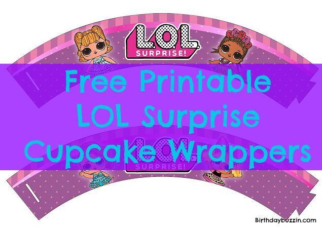 Dekorieren Sie Ihre Motto-Cupcakes mit diesen kostenlosen LOL Surprise Cupcakes zum Bedrucken …   – 7th Birthday