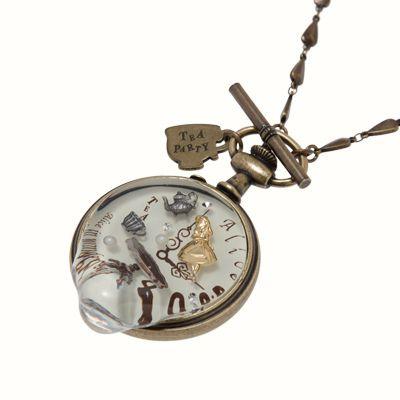 Alice in Wonderland pocket watch necklace!