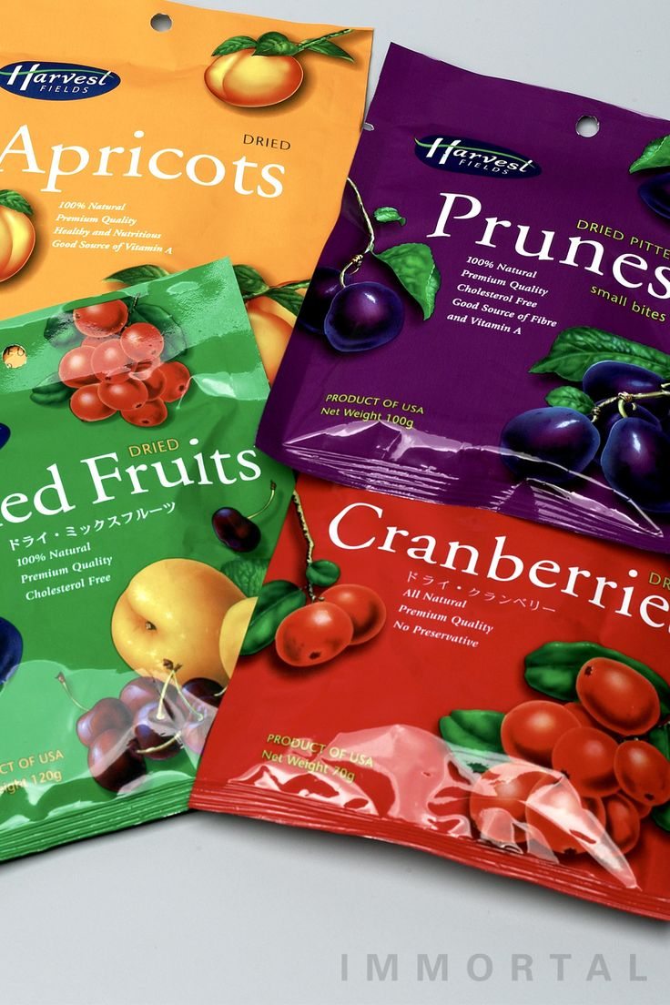 Harvest Field dried fruit packaging design by IMMORTAL Brand Engagement