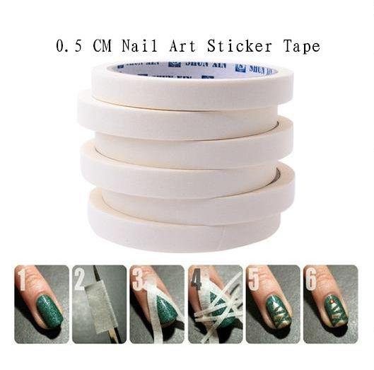 2 piece lot Nail tape 0.5cm x 7m tape perfect for french manicure or decorative nail designs $2.60 per lot from Aliexpress
