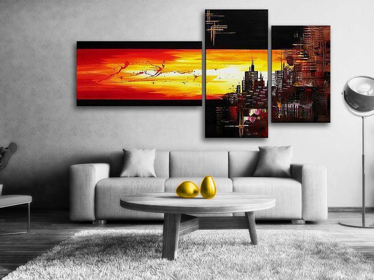 #Rio Quente är en #abstrakt #målning som skildrar #solnedgången i Rio. #Husen är #svart/bruna och #himlen Röd/gul. Rödgula nyanser reflekteras på vattnet. Oljemålningen passar alla moderna hem och kontor. En handmålad tavla ger alltid ett mer uttrycksfull intryck.