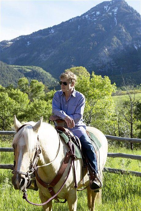 Robert Redford at his ranch in Utah