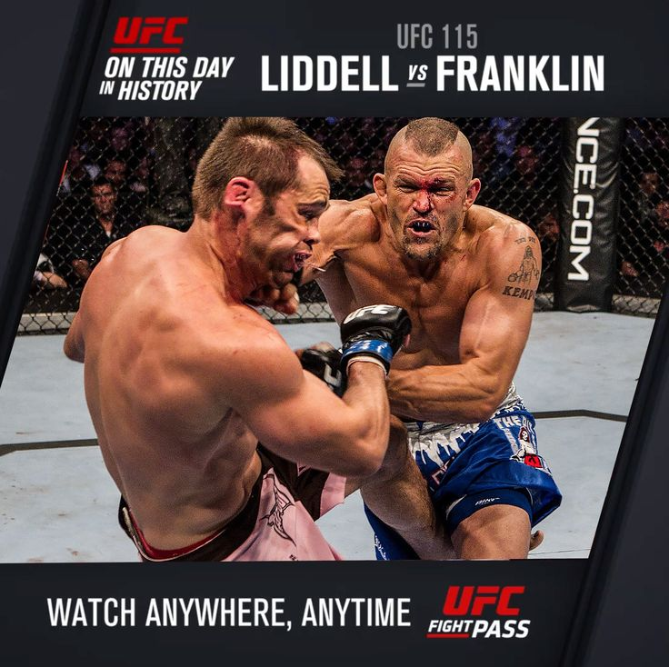 #OnThisDay in UFC history - Legends Chuck Liddell and Rich Franklin went to war!