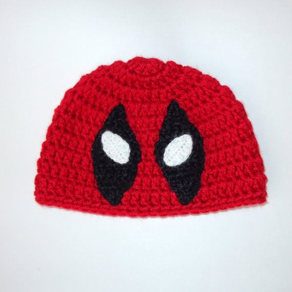 Deadpool Marvel Hat Deadpool Beanie Mask Superhero by KernelCrafts