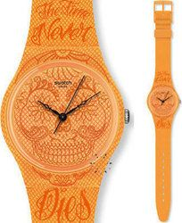 Swatch GO110 Time Never Dies Orange Rubber - Ornament