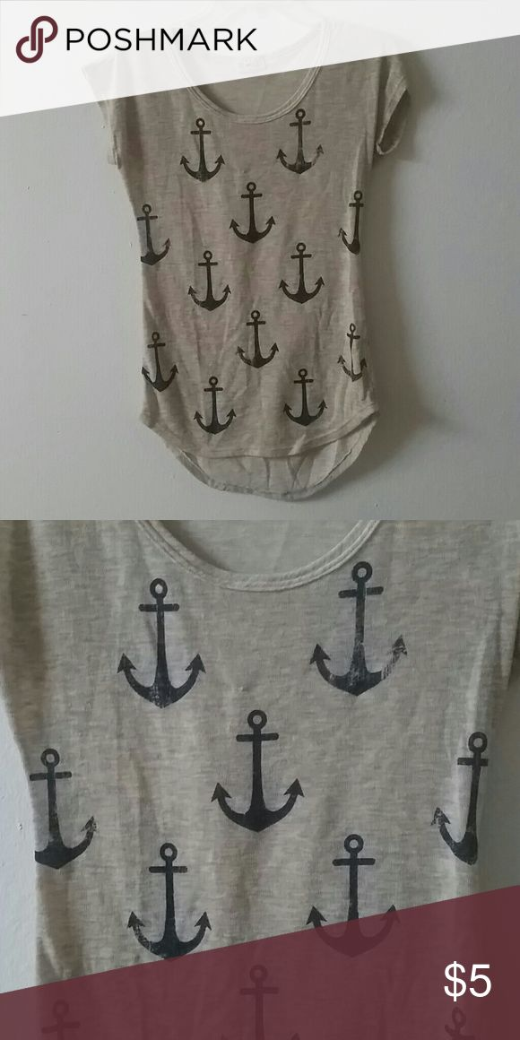 High-low anchor shirt High-low anchor shirt only worn once on a cruise. In great shape. Tops