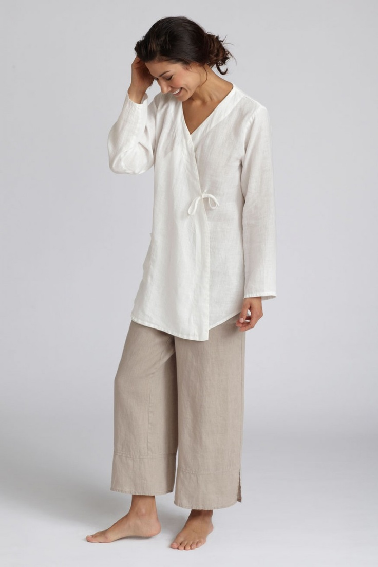 Linen Yes, I love this.....delightfully simple...she was my fav model in j.jill catalogs.