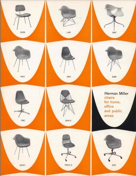Original Eames plastic chair catalog.