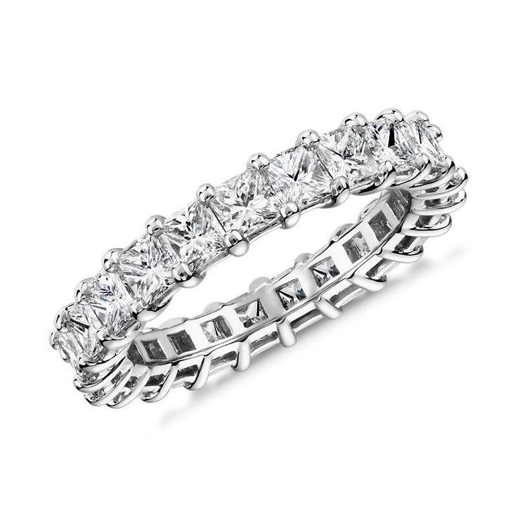 Princess Cut Diamond Eternity Ring Platinum (3.0 ct. tw.), Platinum Diamond