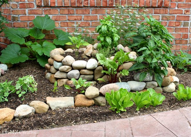 how to create a small vegetable garden using a garden spiral - Small Vegetable Garden Ideas