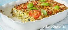 Kip en courgette combineren heerlijk met de romige mascarpone en pesto in deze lasagne